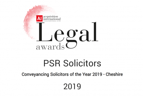 Legal Awards Conveyancing Solicitors of the Year 2019 - Cheshire
